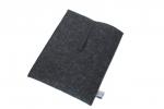 Filz-Tablethülle in graphit für Tablets mit 10 bis 11 Zoll