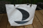 Segeltuchtasche Shopper / Beach dunkelblaues Boot